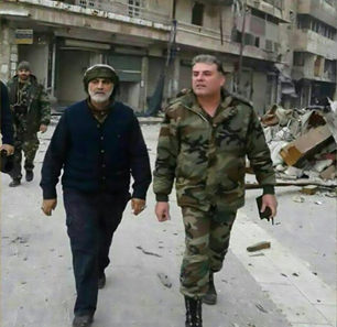 Resistance Axis Opponents Enraged At Photos Of Qods Force Commander Qassem Soleimani In Aleppo: The Photos Are Proof Of Iranian Expansion In Syria, Are Reminiscent Of Nazi Generals Strolling Through Cities They Destroyed