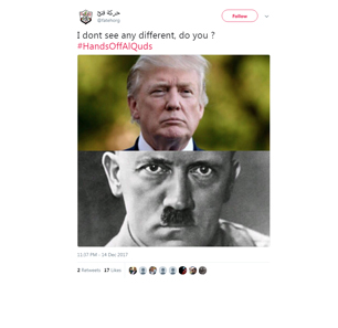 Violent Incitement Against Trump On Fatah Social Media Accounts: Comparisons To Hitler, Execution In Effigy