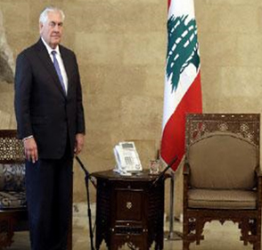 In The Shadow Of U.S. Demands For Disarming Hizbullah And For Compromise In Lebanon-Israel Border Conflicts,  U.S. Secretary Of State Tillerson Is Insulted In Lebanon Visit And Meetings Yield No Results