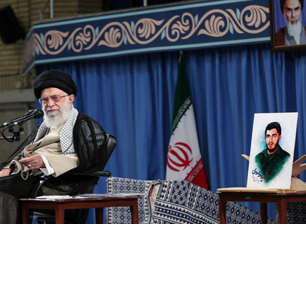 Iranian Supreme Leader Khamenei Presents Portrait Of IRGC Commander Who Downed U.S. Helicopter In Persian Gulf In 1987