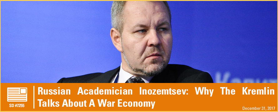 Russian Academician Inozemtsev: Why The Kremlin Talks About A War Economy