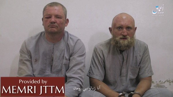 ISIS Releases Video Showing Two Russians In Captivity