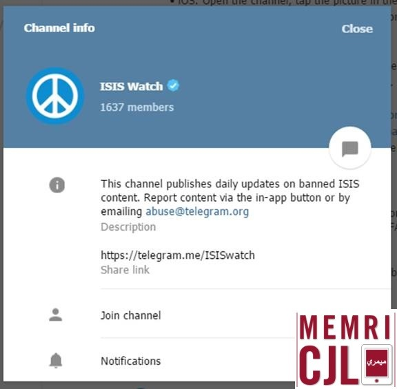 Pro-isis telegram channel has posted a step-by-step. game of thrones dubbed telegram channel.