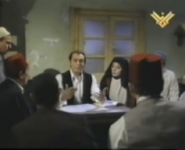 "Fares Explains to His Friends about the Zionist Serpent's Movement throughout History in Egyptian-Produced Drama ""Knight without a Horse"" (Archival Material)"