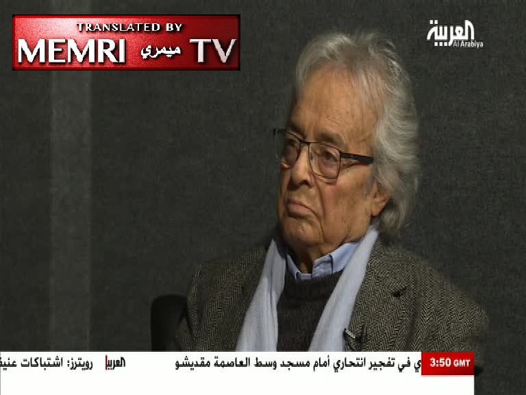 Syrian Poet Adonis: There Can Be No Democracy in the Arab World under Present Circumstances