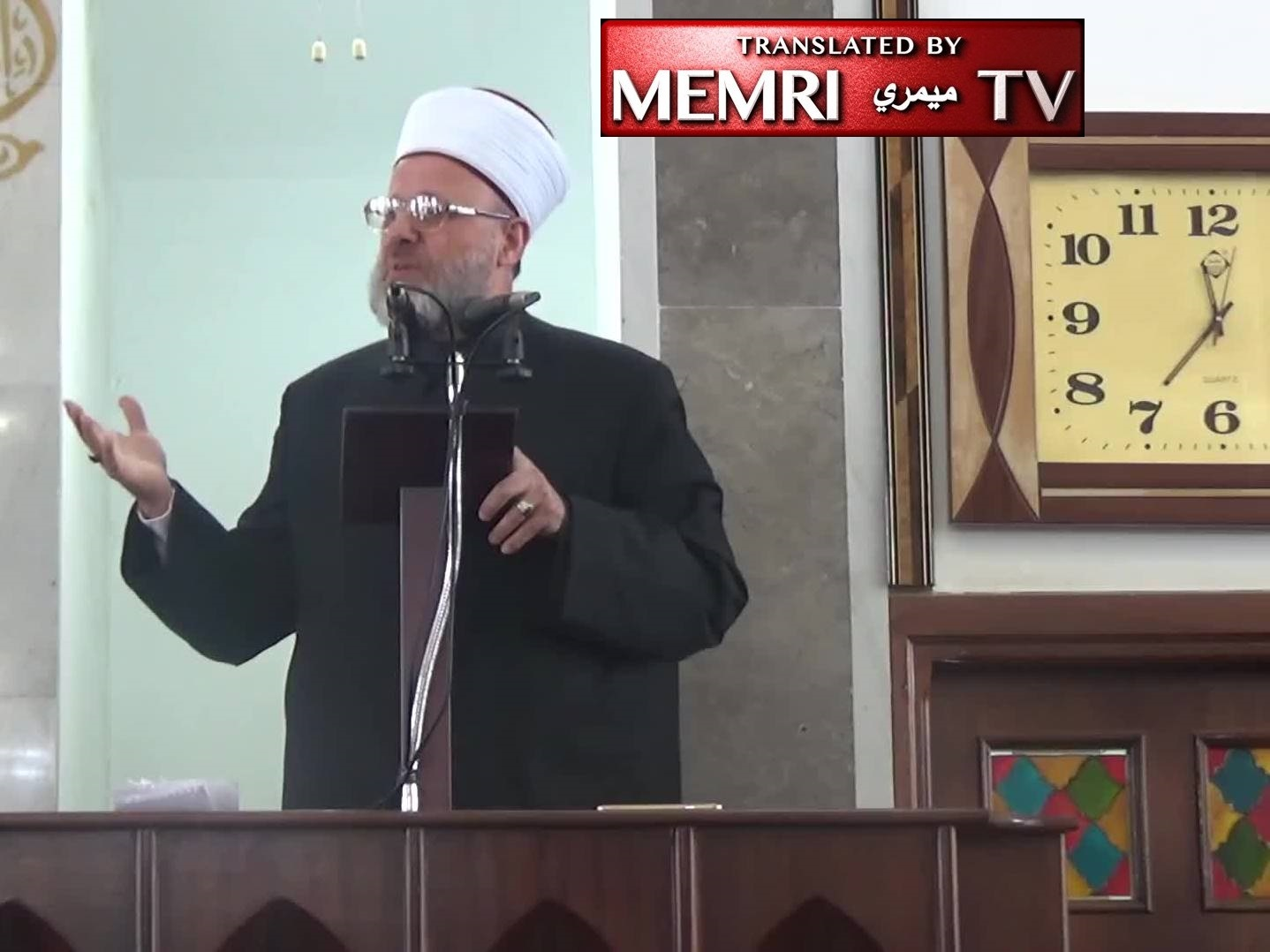 Amman Friday Sermon by Ahmad Shahrouri: Only the Sword Will Resolve the Struggle with the Zionists