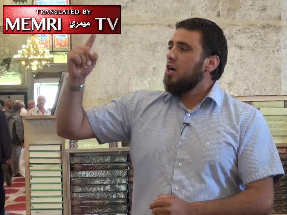"Cleric in Al-Aqsa Mosque Address Calls on Allah to Annihilate ""White House Satan"" Trump and the Jews"