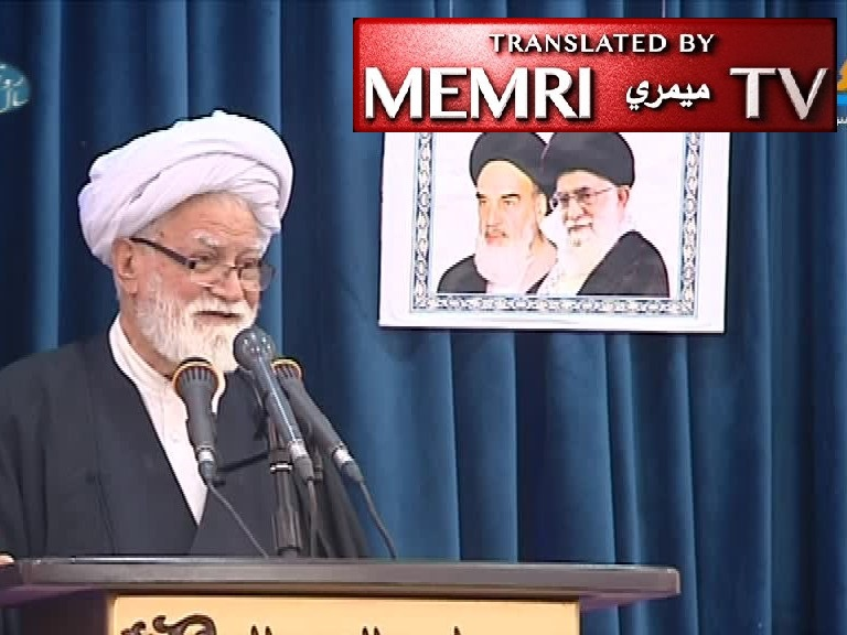 Ayatollah Gholamali Naeimabadi Prompts Friday Sermon Crowd to Chant Death Slogans, Says: America Is an Abomination