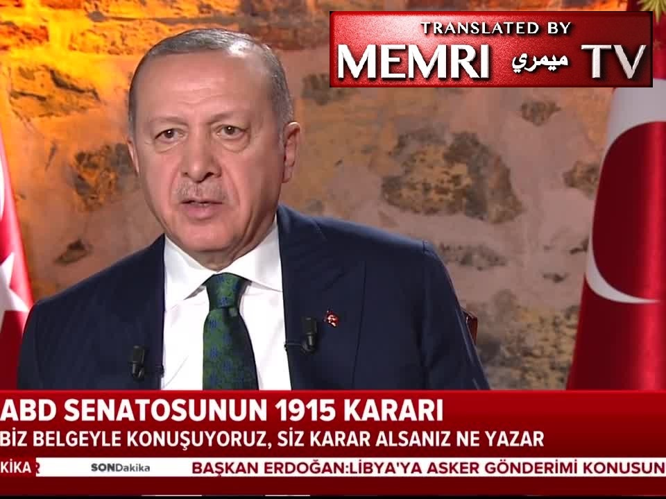 Turkish President Recep Tayyip Erdoğan: We Have the Authority to Shut Down U.S.-Run Airbase, Radar Station in Turkey; If Measures Such as Sanctions Are Taken against Us, We Will Respond As Necessary