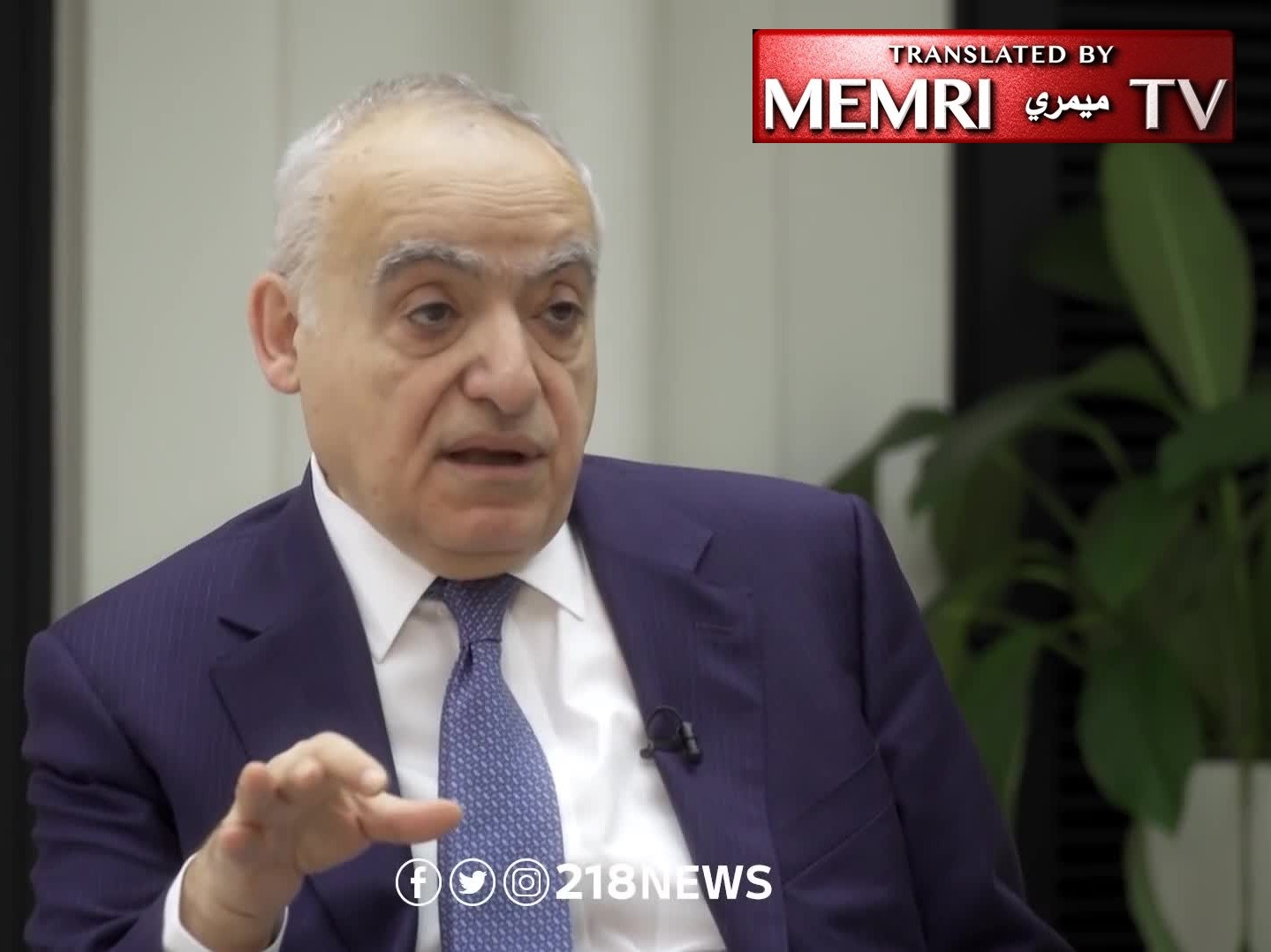 "Ghassan Salamé head of UNSMIL: ""I don't see any Blue Helmets in Libya Soon""; Libyans will Not Accept Foreign Forces and UNSC have no Appetite for It"