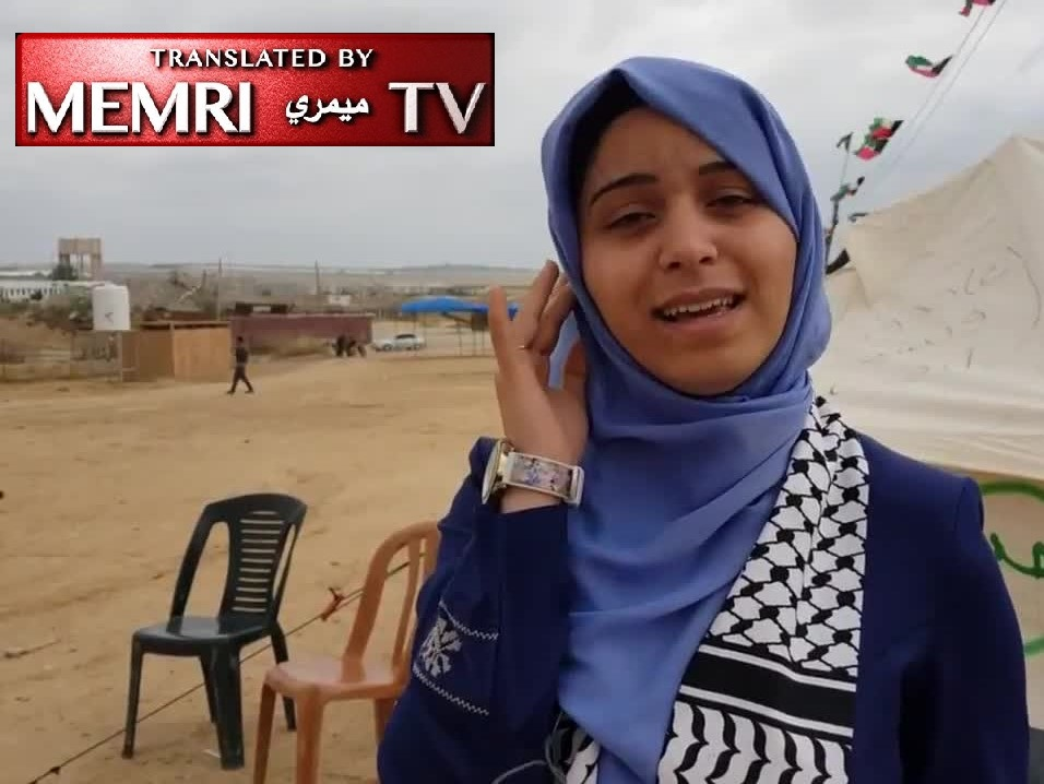 "Gaza Poet Hanin Ahed Al-Hato Sings to ""Despicable Trump"": Whoever Tries to Attack Jerusalem - Woe Unto Him! - Scenes from Gaza ""Return March"""