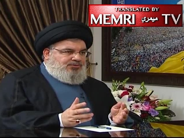 Hizbullah's Secretary-General Hassan Nasrallah: I Am Not Worried about Situation in Iran; I Met Fatah and Other Palestinian Factions to Discuss Support for Intifada; Large-Scale War Will Be an Opportunity to Liberate Jerusalem