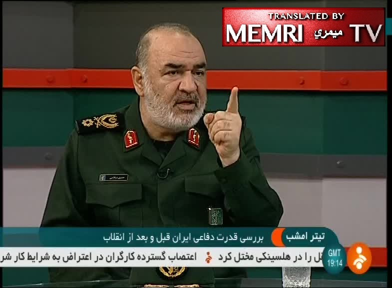 IRGC Deputy Commander Salami Threatens to Fire Ballistic Missiles at Aircraft Carriers, Enemy Bases in the Region in Event of War