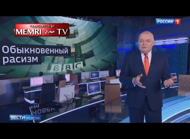 Senior Russian TV Host: I'm Not Racist, The BBC Is a Racist Garbage Dump