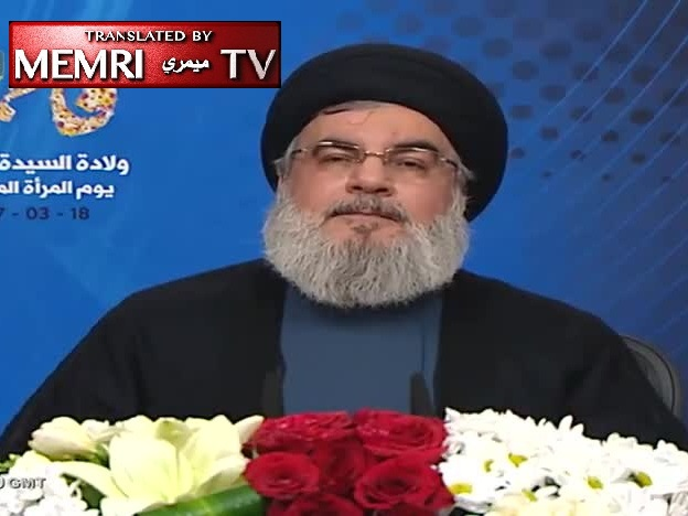 "Hizbullah Sec.-Gen. Nasrallah Warns against Legalization of Gay Marriage in Lebanon, Defends ""Early Marriage"""