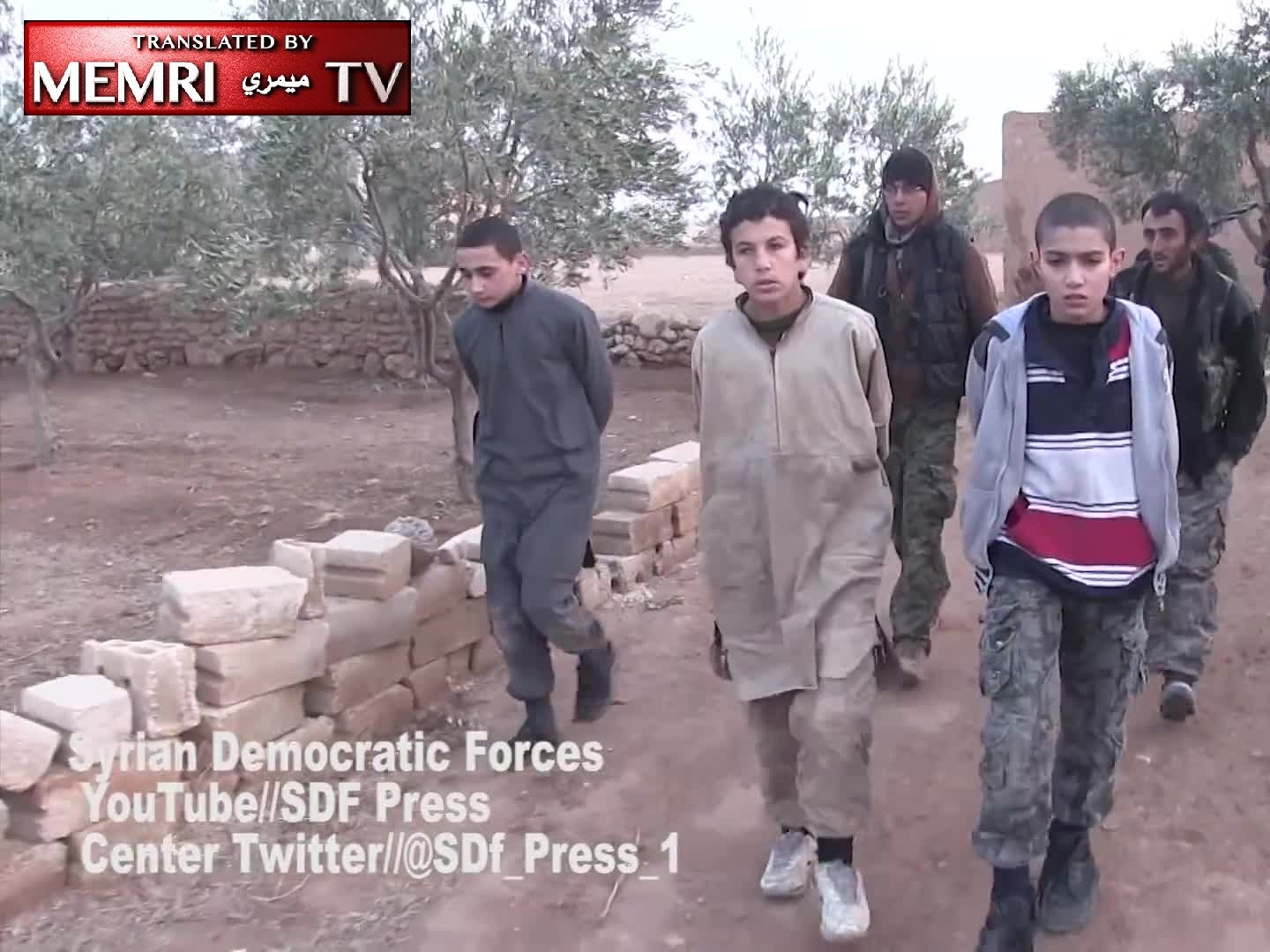 Teens Fighting with ISIS Captured by Syrian Democratic Forces