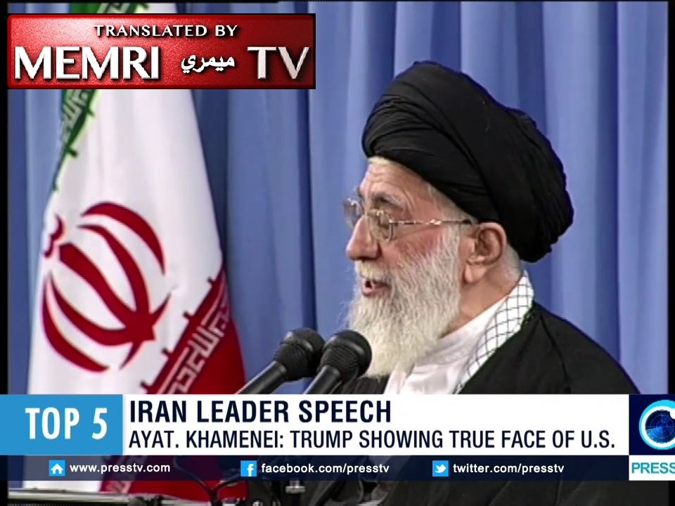 "Iranian Supreme Leader Ali Khamenei Thanks Donald Trump for Revealing the ""True Face of America"""