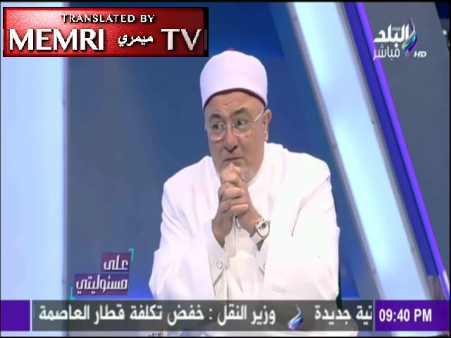 "Egyptian Cleric Khaled Al-Gindi : Israel Is Behind Its Recent Fires, It Is Creating a New ""Holocaust"""