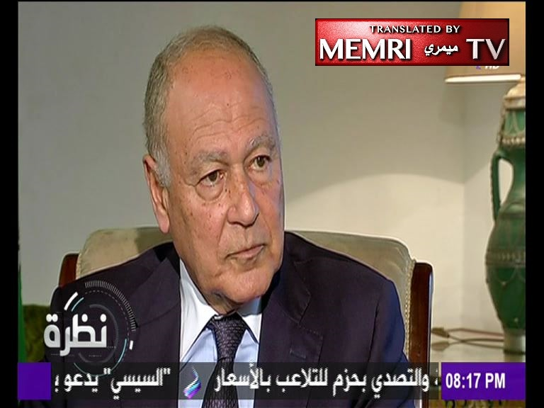 Former Egyptian FM Ahmed Aboul-Gheit: The Arab Spring Is the Arab Destruction