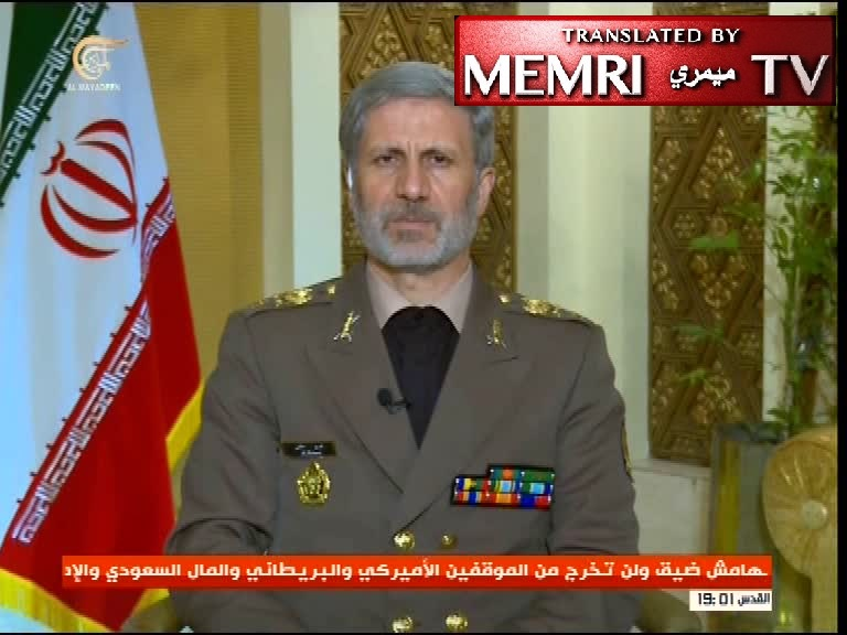 Iranian Defense Minister Amir Hatami: Iran Will Help Syria Rebuild Its Military Industries, Other Nations Have No Right to Express Their Opinion on Iranian Presence in Syria
