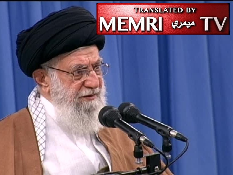 Iranian Supreme Leader Ayatollah Ali Khamenei: We must Not Engage in Negotiations with America in Order to Prevent It from Entering Iran Again