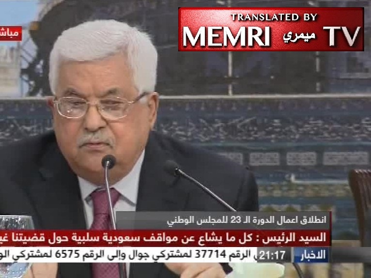 PA President Mahmoud Abbas: Holocaust, Massacres of European Jews Due to Their Function in Society as Usurers; Hitler Struck a Deal with the Jews
