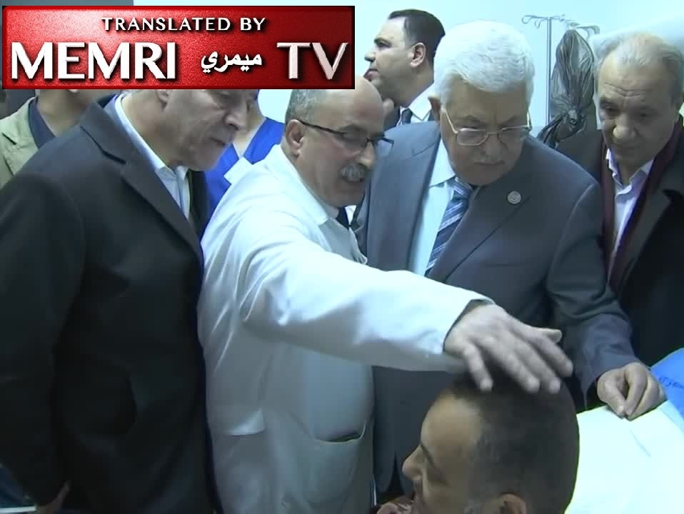 "PA President Abbas Curses Hamas ""Dogs"" during Hospital Visit to Fatah Official Beaten Up in Gaza"