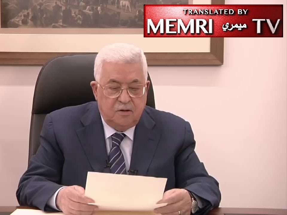 Palestinian President Mahmoud Abbas Vows to Continue Payments to Families of Prisoners
