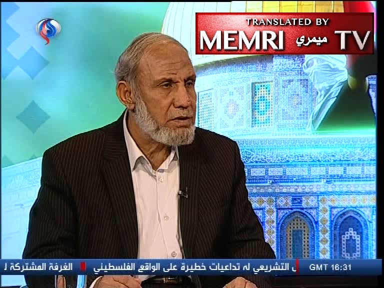 Senior Hamas Official Mahmoud Al-Zahar: U.S. Embassy Is Unacceptable in West Jerusalem, in Tel Aviv, or Even in Safed