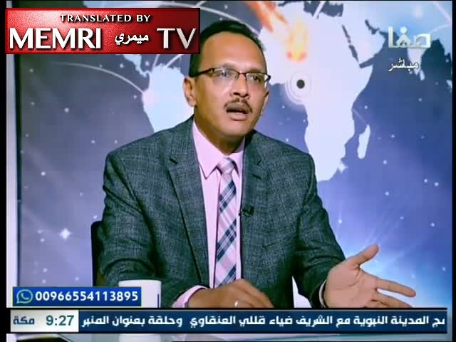 Egyptian Researcher Mohamed Gad El-Zoghby: We Should Erect a Statue of Hitler Because of What He Did to the Jews