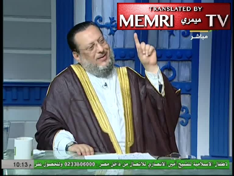 Egyptian Cleric Muhammad Al-Zoghbi Goes Off on an Antisemitic Rant: America, the West Are the Jews; There Cannot Be Peace with the Jews