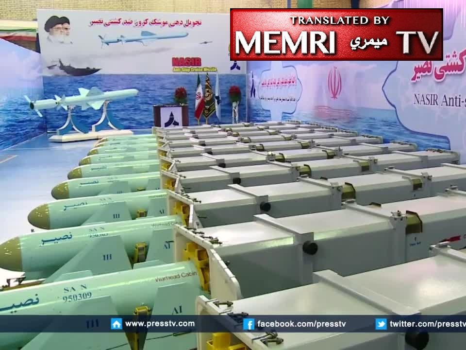 Iran's Defense Ministry Delivers New Nasir Anti-Ship Cruise Missiles to IRGC Navy