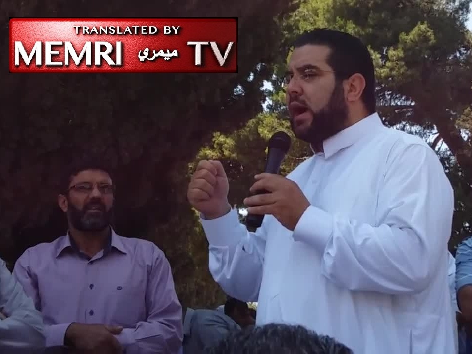 Sheikh Nidhal Siam Prays in Al-Aqsa Mosque Address for Allah to Enable the Slaughtering of the Americans and Europeans