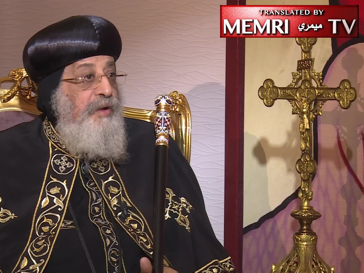 Egyptian Coptic Patriarch Pope Tawadros II of Alexandria: No Problem with Copts Visiting Jerusalem, Israel Is a Country Like Any Other