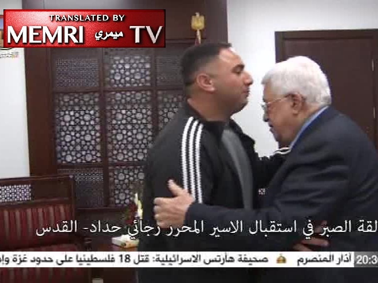 Released Terrorist Welcomed by President Abbas, Received as Hero at West Bank