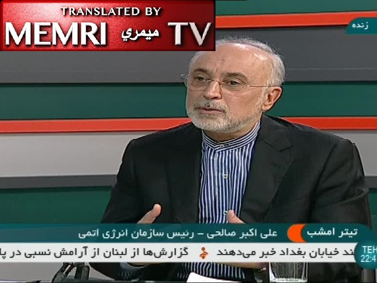 Iranian Atomic Energy Chief Ali Akbar Salehi Reviews Iran's Nuclear Capabilities: We Have Recently Increased Production Capacity by Over 20%, Uranium Production by Over 1000%; We Can Enrich Uranium to 20% If We Want; We Are Activating Next-Gen Centrifuges