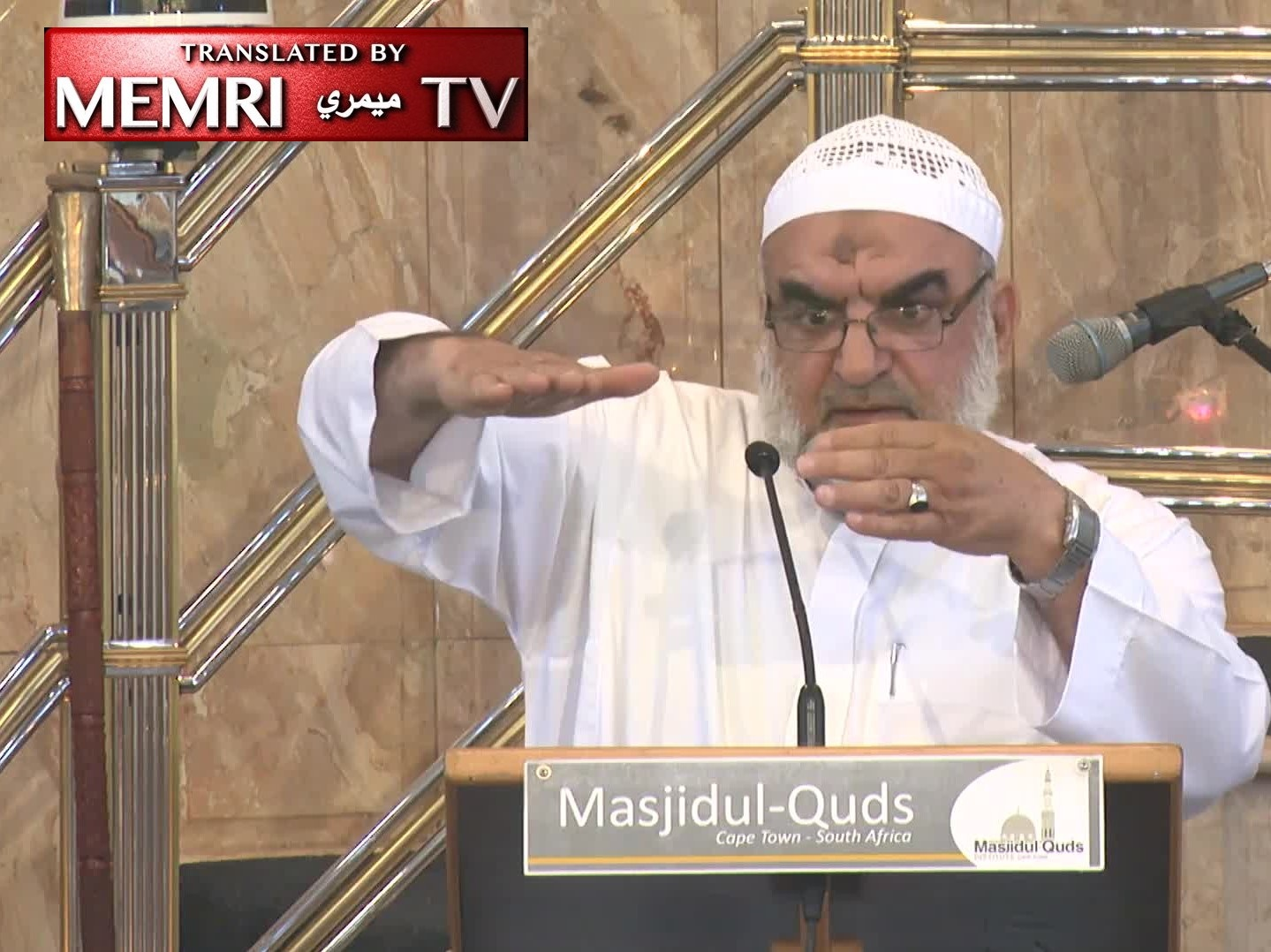 IUMS Sheikh Sameer Saeed to Cape Town Mosque Congregation: You Will Be the Muslim Army to Protect Jerusalem; We Will Fight the Jews and Christians in the End Times