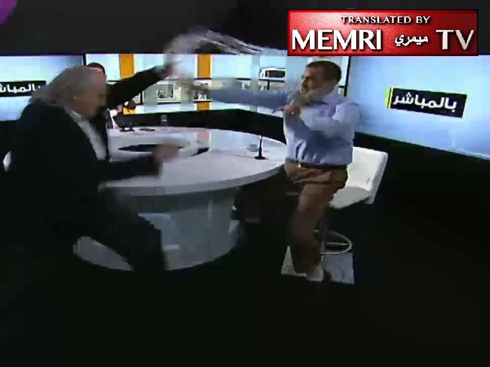 Lebanese TV Debate Deteriorates into a Brawl When Guest Refuses to Extend Condolences to Colleague Whose Cousin Was Executed by ISIS