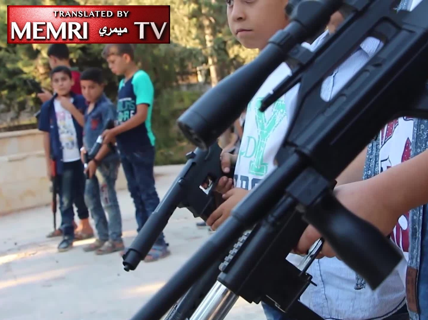Syrian Children Play War Games with Toy Guns and Rifles: When We Grow Up, We Want to Be Mujahideen