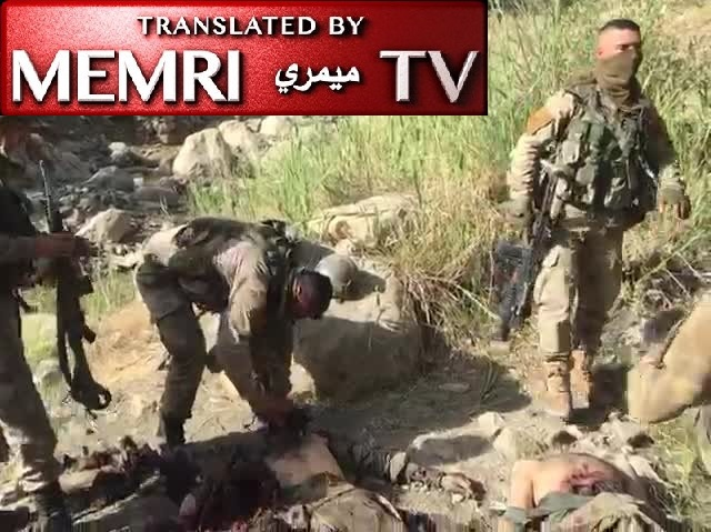 Warning: EXTREMELY GRAPHIC VIDEO - Footage of Turkish Soldiers Decapitating Fallen Kurdish Fighters (Archival)