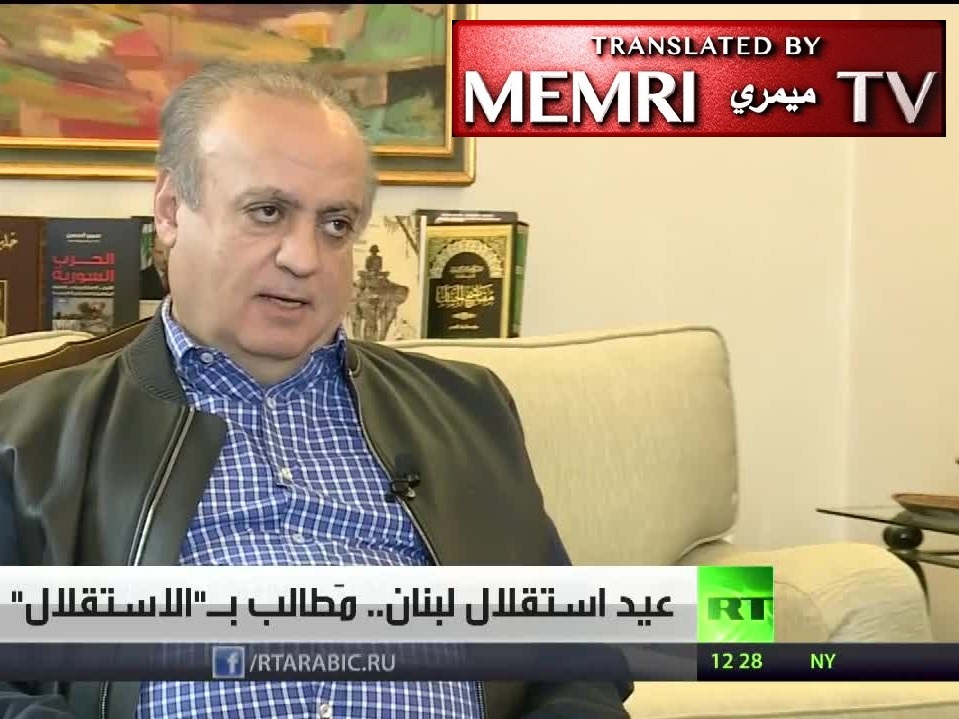 Former Lebanese Minister Wiam Wahhab: Lebanon Is a Silly Adolescent Country That Still Needs Foreign Guardianship