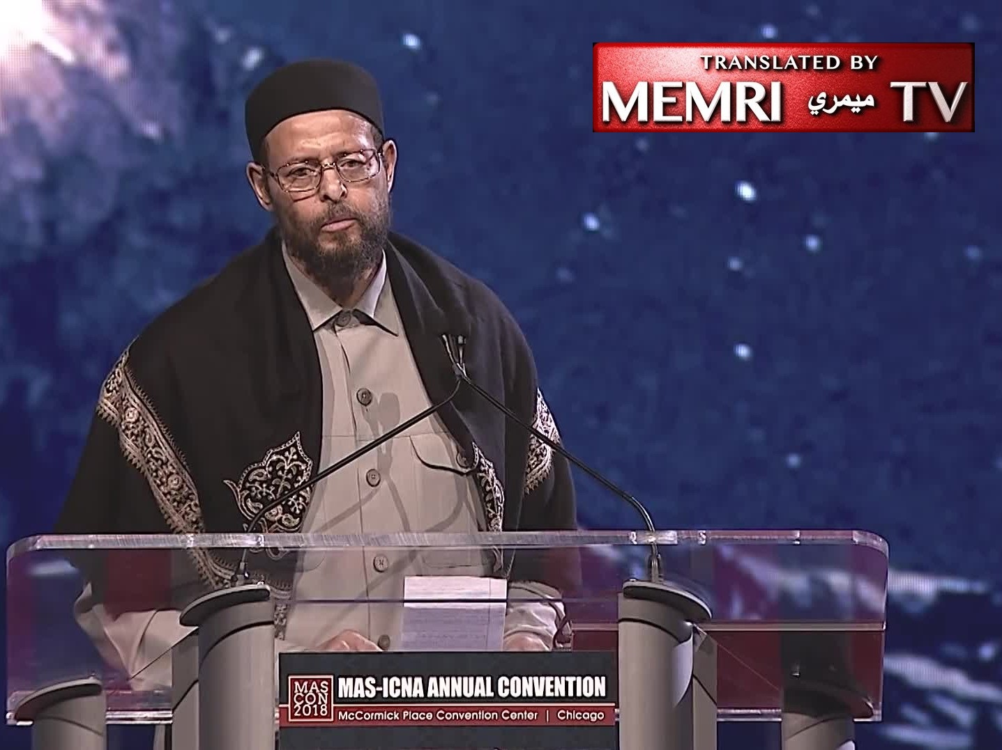 "Prominent American Imam Zaid Shakir in Chicago: Obama Was ""Bomber-in-Chief,"" Murdered Anwar Al-Awlaki; We Should Eat Grass before Taking Trump's Jobs"