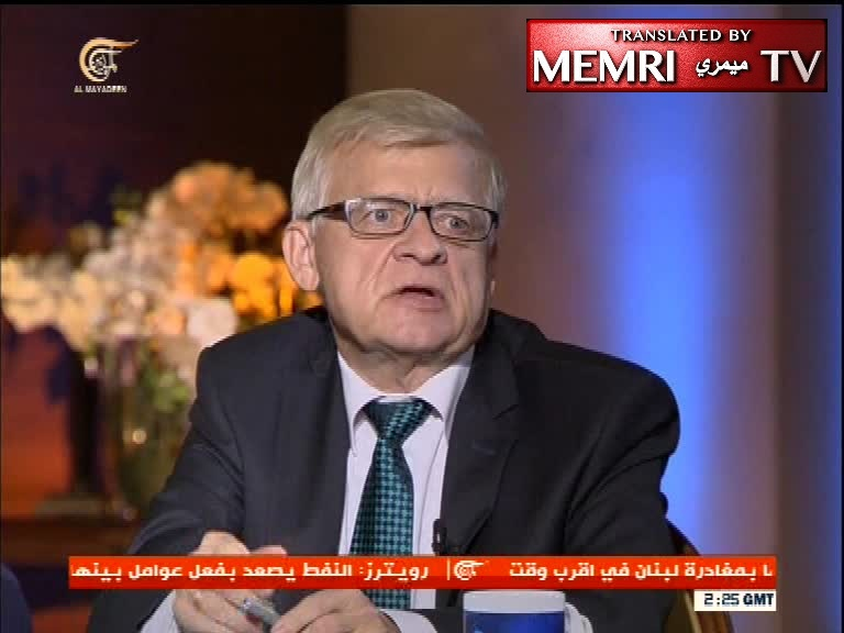 Russian Ambassador to Lebanon Alexander Zasypkin: The Issue of Iranian and Hizbullah Forces on the Israeli Border Exaggerated; We Want to Complete War on Terror