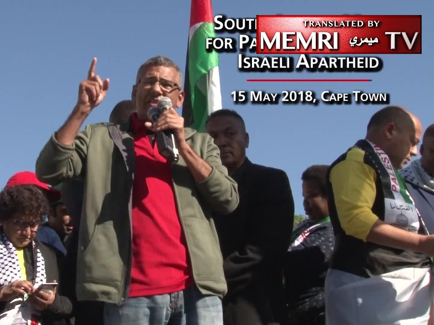 South African Politician Tony Ehrenreich at BDS March Calls to Expel Israeli Ambassador, Investigate SA Jewish Board of Deputies, Supporters of Israel Have No Place in SA