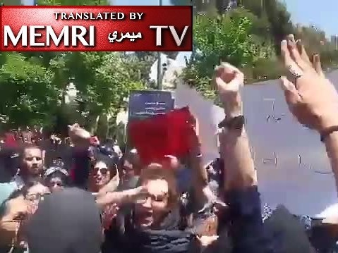Protest at Tehran University against Enforcement Of Hijab, Students Chant: