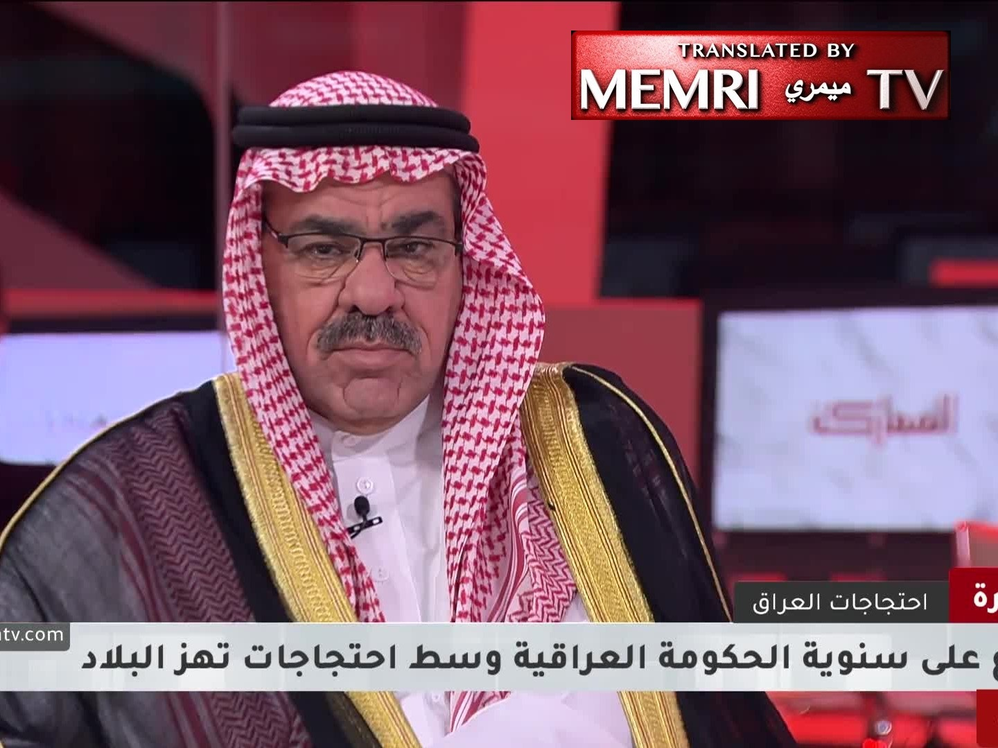 Iraqi Sunni Tribal Leader Sheikh Raad Suleiman: Masked Men Carried out a Large Massacre in Karbala; Iran Is the Source of All Our Problems; Our Politicians Should Resign