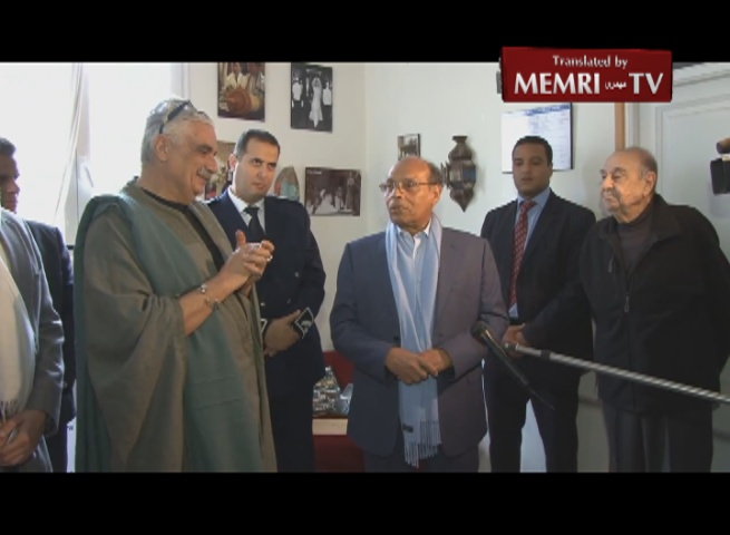 Tunisian President Marzouki Visits Jewish Exhibition on Purim: Proud of our Jewish, Christian, Amazigh, and Phoenician Heritage