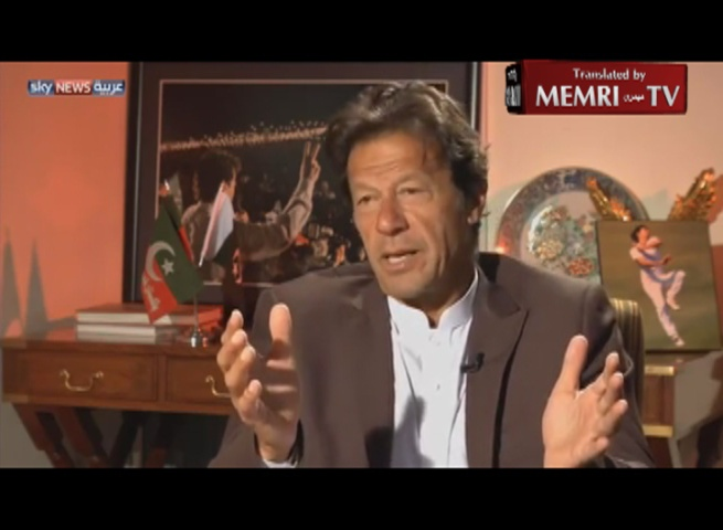 Pakistani Politician Imran Khan: We Should Disengage from the U.S.