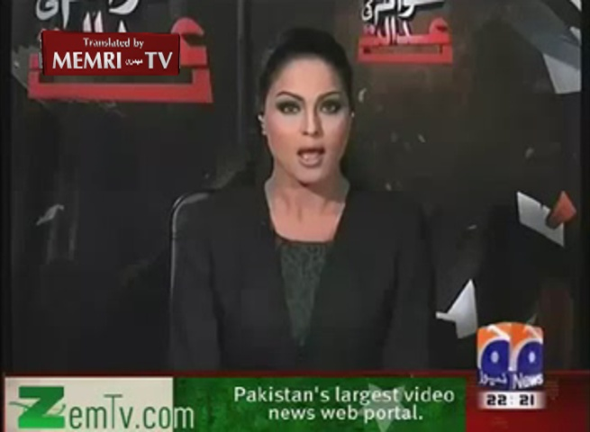 Pakistani Model and Actress Veena Malik in Support of Gay Rights
