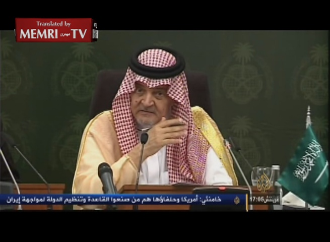 Saudi Foreign Minister Saud Al-Faisal: Iran Has Occupying Forces in Syria